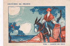 VIII. - Comte de Nice, Donkey, Costumes de France, 10-20s