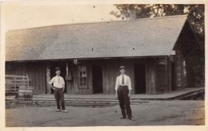B25/ Occuptional Worker RPPC Postcard c1910 Railroad Depot Station Employees 14