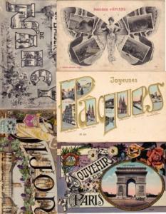 SOUVENIR DE (France) 230 Cartes Postales 1900-1940