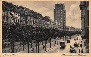 Koln am Rhein Hansaring mit Hochhaus Street Vintage Cars Postcard