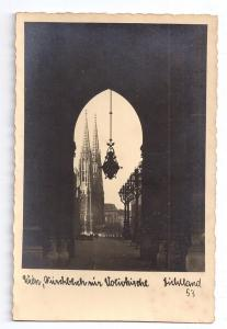 Austria Vienna Votivkirche Votive Church RPPC Real Photo
