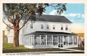 Old Vintage Shaker Post Card The Shelter East Canterbury, New Hampshire, NH, ...