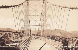 Colorado The Royal Gorge Suspension Bridge Sanborn Real Photo RPPC