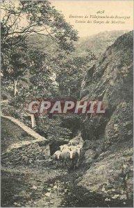 Postcard Old Surroundings of Villefranche de Rouergue Gorges Entree Morlhon