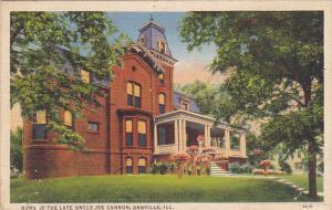 Home Of The Late Uncle Joe Cannon Danville Illinois Curteich