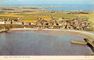 PORT ERIN ISLE OF MAN UK AERIAL VIEW POSTCARD 1950s