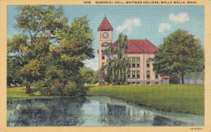 Memorial Hall, Whitman College, WALLA WALLA, Washington, 1930-1940s