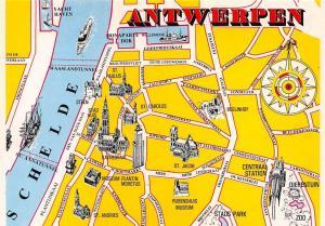 Netherlands Antwerpen Map St Jacob Rubenshuis Museum Stads Park Yacht Haven