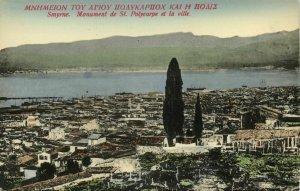 turkey, SMYRNA SMYRNE IZMIR, Panorama St. Polycarp (1910s) Decipris Postcard