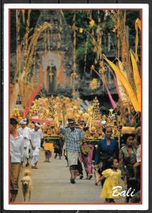 1993 Indonesia, Bali, Village Temple Feast, mailed to USA