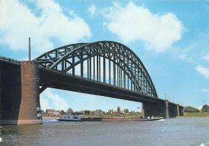 Netherlands Nijmegen Waalbrug Bridge River Boat Bateau Pont