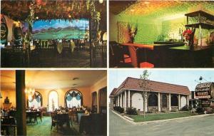 Livonia MI~Fonte d'Amore~Restaurant~Lounge~Bar~Dining Room~1970s~Postcard