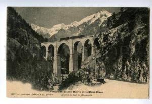 133107 FRANCE CHAMONIX Viaduc de Sainte-Marie Vintage postcard