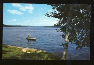 Bridgton, Maine/ME Postcard, View Of Highland Lake From Richardson's Motel