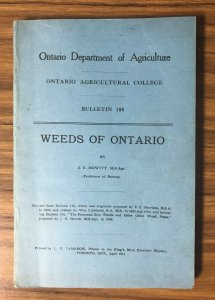 Weeds of Ontario Canada , 1911 ; Booklet ; Illustrated