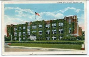 Kokomo High School Kokomo Indiana 1942 postcard