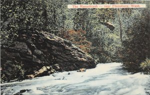 G33/ Ellensburg Washington Postcard c1910 The Manashtash River