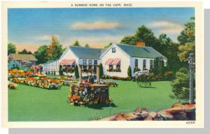 Beautiful Cape Cod, Massachusetts/Mass/MA Postcard, Summer Home