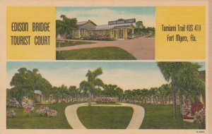 FORT MYERS, Florida, 1930-40s; Edison Bridge Tourist Court, Tamiami Trail, US 41