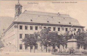 Germany Heidelberg Universitaet und Kaiser Denkmal