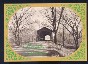 SEDALIA MISSOURI FLAT CREEK OLD COVERED BRIDGE MO. POSTCARD