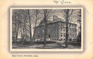 Stoneham MA Stoneham MA High School in 1912 Postcard