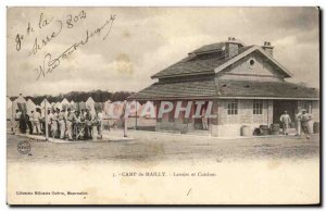 Postcard Old Army Camp Mailly Laundries and kitchens