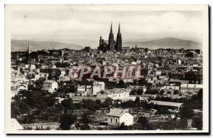 Old Postcard Clermont Ferrand General view taken of the Four Roads