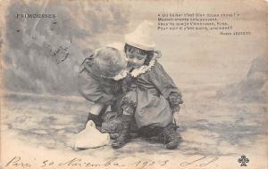 Children kiss baiser Frimousses Pierre Ardouin 1903