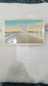 Antique Postcard, P.C. 30 - East Bay Bridge at Sunset, Panama City, Fla.
