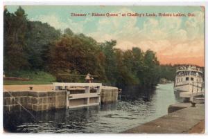 Steamer Rideau Queen, Chaffey's Lock, Rideau Lakes Ont