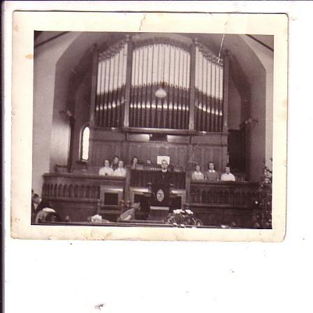 3.5X4. inch B&W Photograph, Interior Church with Pipe Organ, Canada