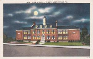 Virginia Martinsville High School By Night
