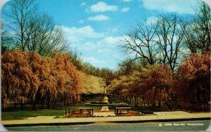 Vtg 1960s Josephine Fountain Memorial Brandywine Park Wilmington DE Postcard