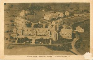 Elizabethtown, Pennsylvania Masonic Homes Aerial View Vintage Sepia Postcard