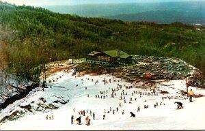 Tennessee Gatlinburg Ski Slopes Mount Harrison Ski Lodge In Distance