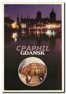 Postcard Modern Gdansk Rybackie Pobrzez noca