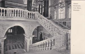 BELFAST, Northern Ireland, 1900-1910´s; Grand Staircase, City Hall