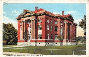 F87/ Newberry South Carolina Postcard 1939 County Court House