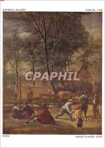 Postcard Modern National Gallery Steen Skittle Players