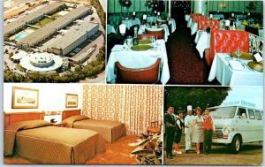 San Francisco CA SFO Postcard HILTON INN International Airport Hotel c1960s
