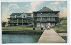 Old Mission La Pointe Madeline Island Apostle Islands Wisconsin 1910c postcard