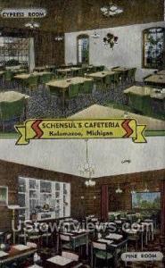 Schensul's Cafeteria Kalamazoo MI Unused