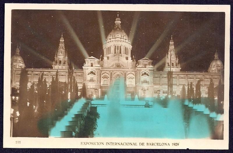 National Palace Barcelona Int'l Exposition unused c1929