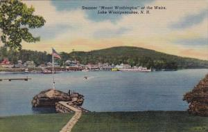 New Hampshire Lake Winnipesaukee Steamer Mount Washington At The Weirs