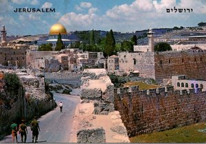 Israel Jerusalem Temple Area With Wailing Wall In The Foreground