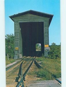 Unused Pre-1980 TRAIN TRACKS UNDERCOVERED BRIDGE Swanton Vermont VT H8002