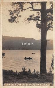 C75/ Big Bear Lake San Bernardino Mountains California Ca Postcard RPPC 1918