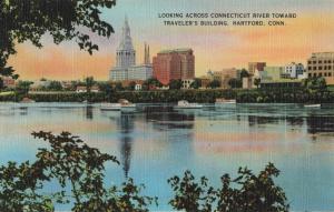 Postcard Traveler's Building Hartford Conn