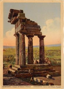 BR3533 Agrigento Tempio di Castore e Polluce   italy